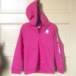 Carhartt hot pink heather sherpa zip hoodie M